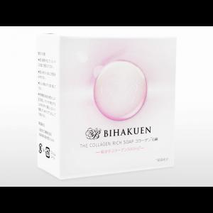 [BIHAKUEN]コラーゲン石鹸 100g 1個 / [BIHAKUEN] The Collagen Rich Soap 100g 1 piece