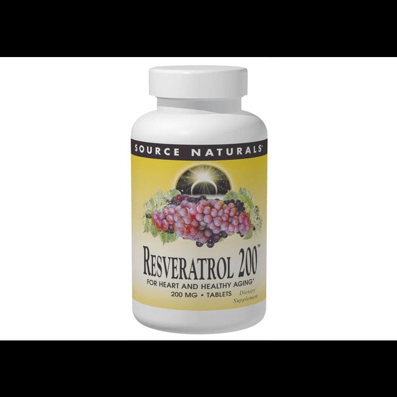 [ソースナチュラルズ] レスベラトロール 200mg / [Souerce Naturals] Resveratrol 200mg