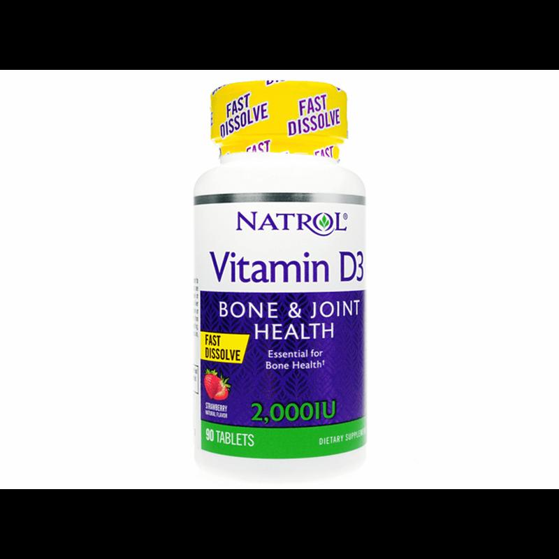 [ナトロール] ビタミンD3ファストディゾルブ 3本 / [Natrol] Vitamin D3 Fast Dissolve 3 bottles
