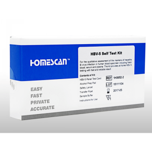 B型肝炎セルフテストキット 1セット / HBV-5 Self Test Kit 1 set
