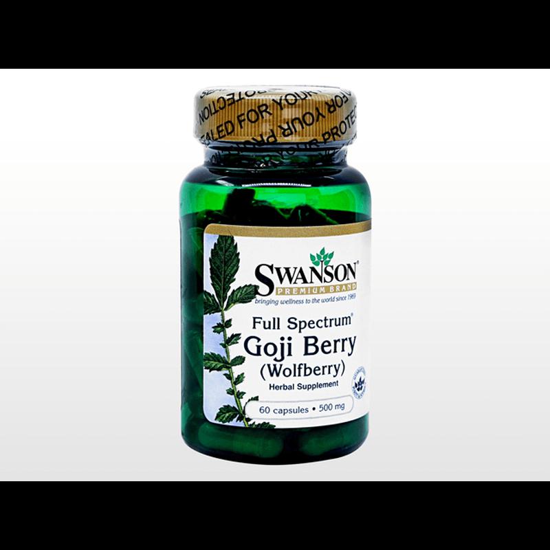 [Swanson] ゴジベリー (ウルフベリー) 500mg / [Swanson] Goji Berry (Wolfberry) 500mg