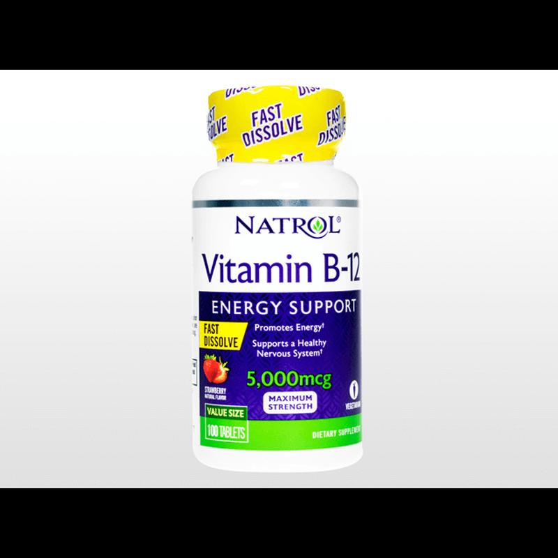 [ナトロール] ビタミンB12ファーストディゾルブ5000mcg 2本 / [Natrol] Vitamin B12 5000mcg Fast Dissolve 2 bottles
