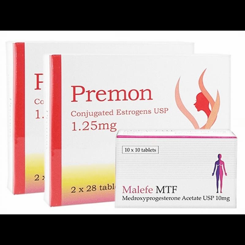 プレモン 1.25mg 2 箱 + マレフェMTF 10mg 1 箱 セット / Premon 1.25mg 2 boxes + MalefeMTF 10mg 1 box set