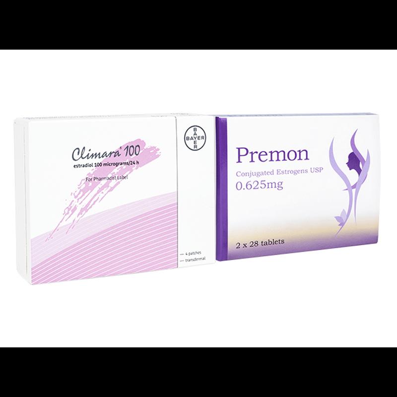 プレモン 0.625mg 1箱 + クリマラ フォルテ 1箱 セット / Premon 0.625mg 1 box + Climara Forte 1 box set