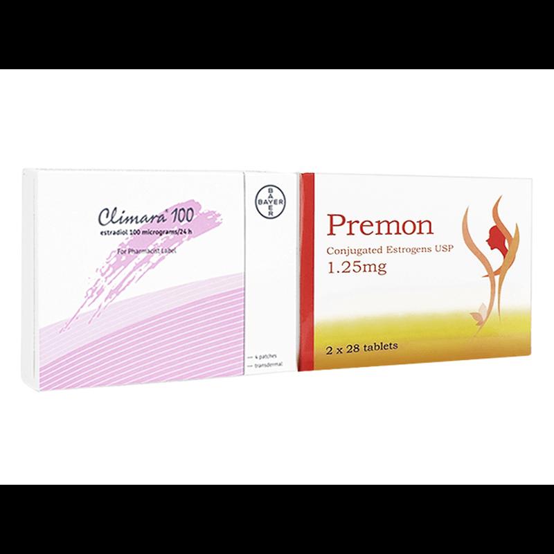 プレモン 1.25mg 1箱 + クリマラ フォルテ 1箱 セット / Premon 1.25mg 1 box + Climara Forte 1 box set