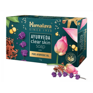 [Himalaya] アーユルヴェーダクリアスキンソープ 1箱 / [Himalaya] Ayurveda Clear Skin Soap 1 box