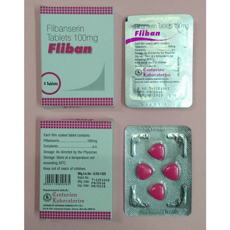 フリバン 100mg 4箱 / Fliban 100mg 4 boxes