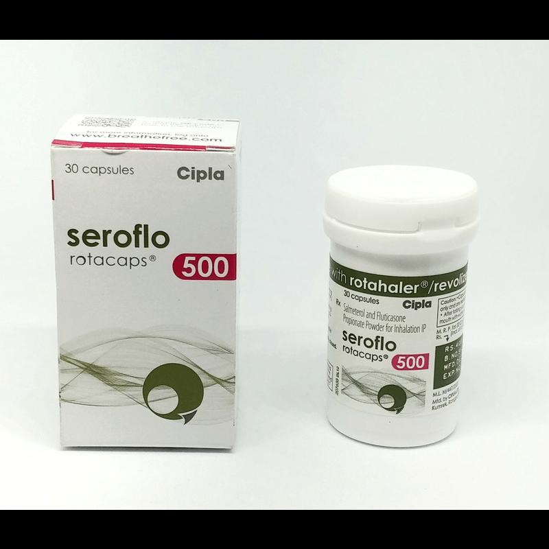 セロフロロタカプセル 500mcg / Seroflo Rotacaps 500mcg