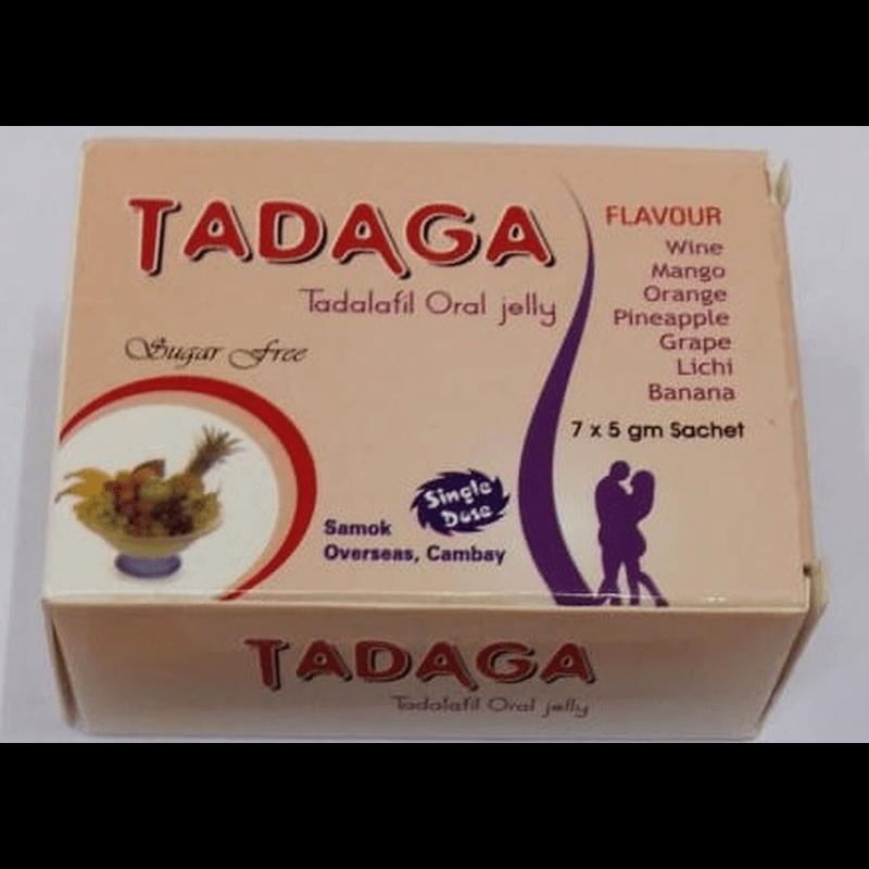 タダガオーラルジェリー 20mg 1箱 / Tadaga Oral Jelly 20mg 1 box