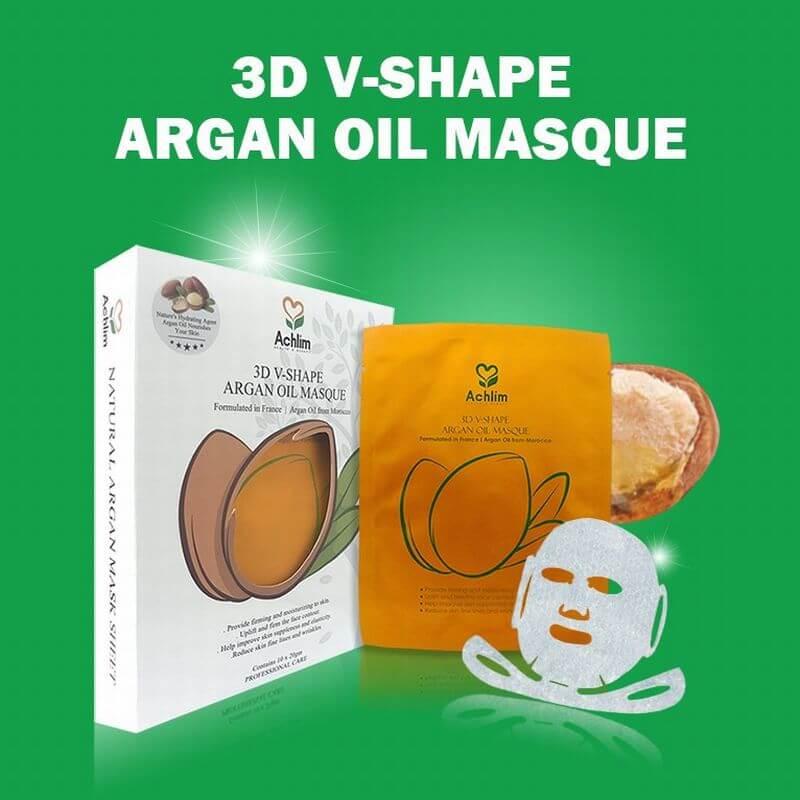 [Achlim] 3D V-シェイプアルガンオイルマスク 4個 / [Achlim] 3D V-Shape Argan Oil Masque 4 unit