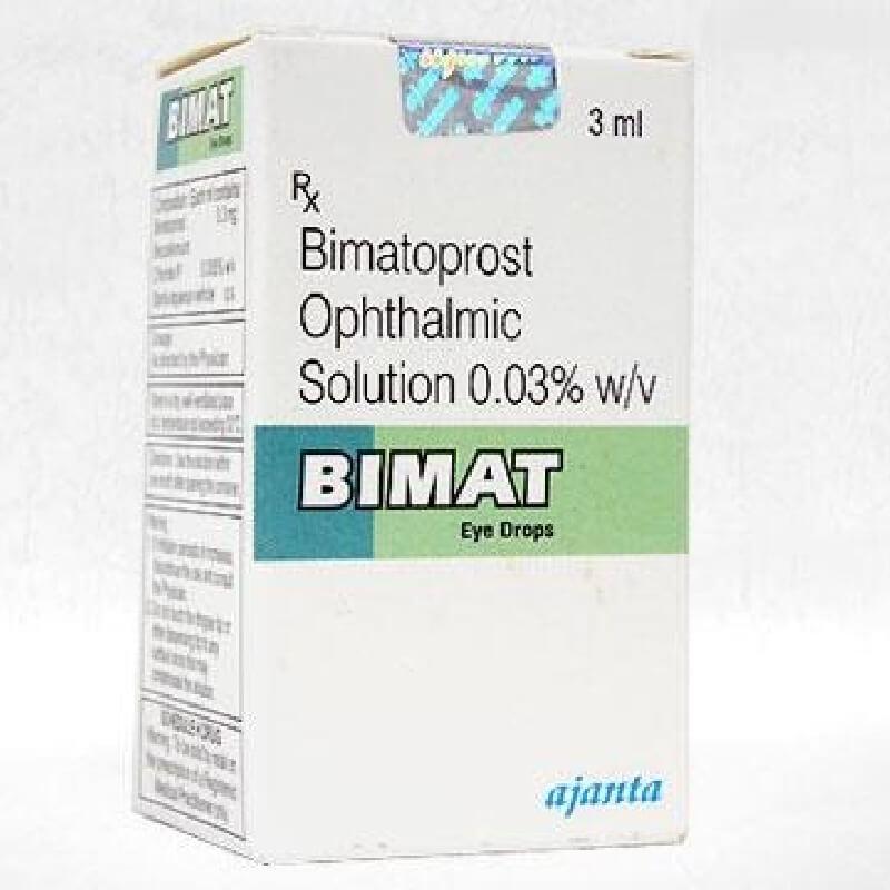 ビマトアイドロップス 0.03% 3ml 3本 + アイラッシュアプリケーター30本入り 6セット / Bimat Eye Drops 0.03% 3ml 3 units + Eyelashes Applicators 30 pieces 6 packs