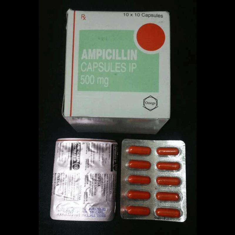アンピシリン 500mg 10カプセル / Ampicillin 500mg 10 Capsules